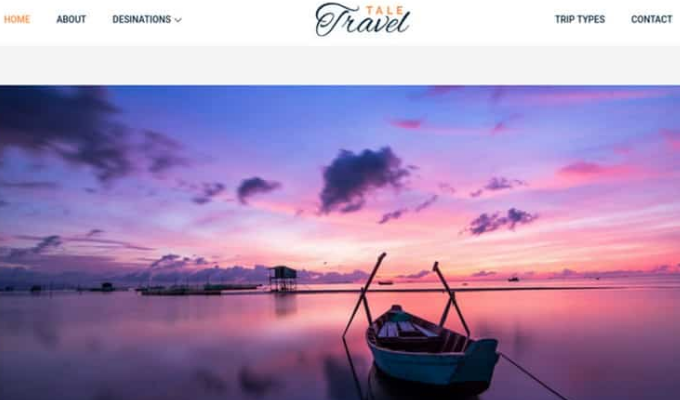 Beautiful themes for a travel booking website