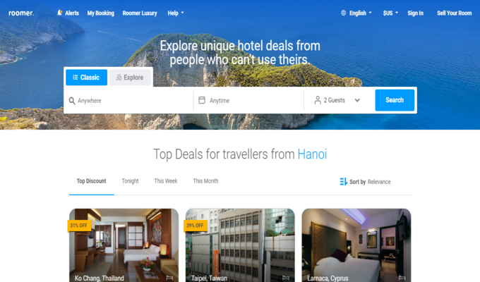 Roomer - A travel booking website you should know