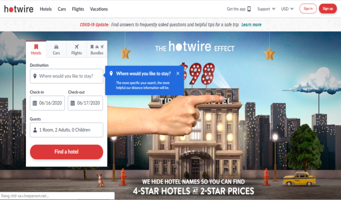 Hotwire - A travel booking website you should know